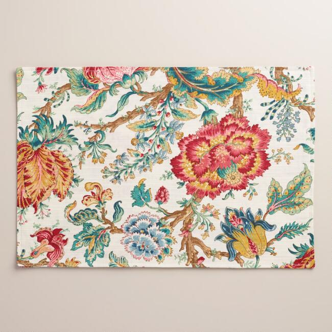 Floral Polina Placemats, Set of 4