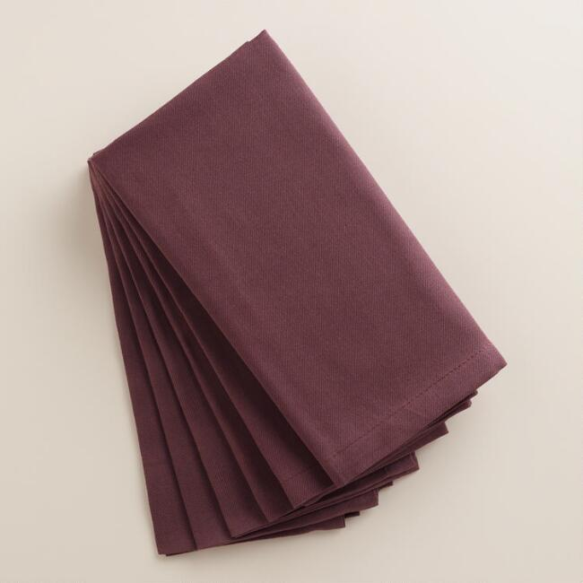 Plum Wine Buffet Napkins, Set of 6