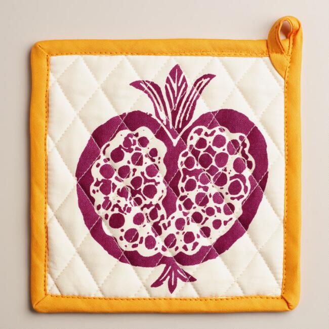 Harvest Fruit Potholders, Set of 2