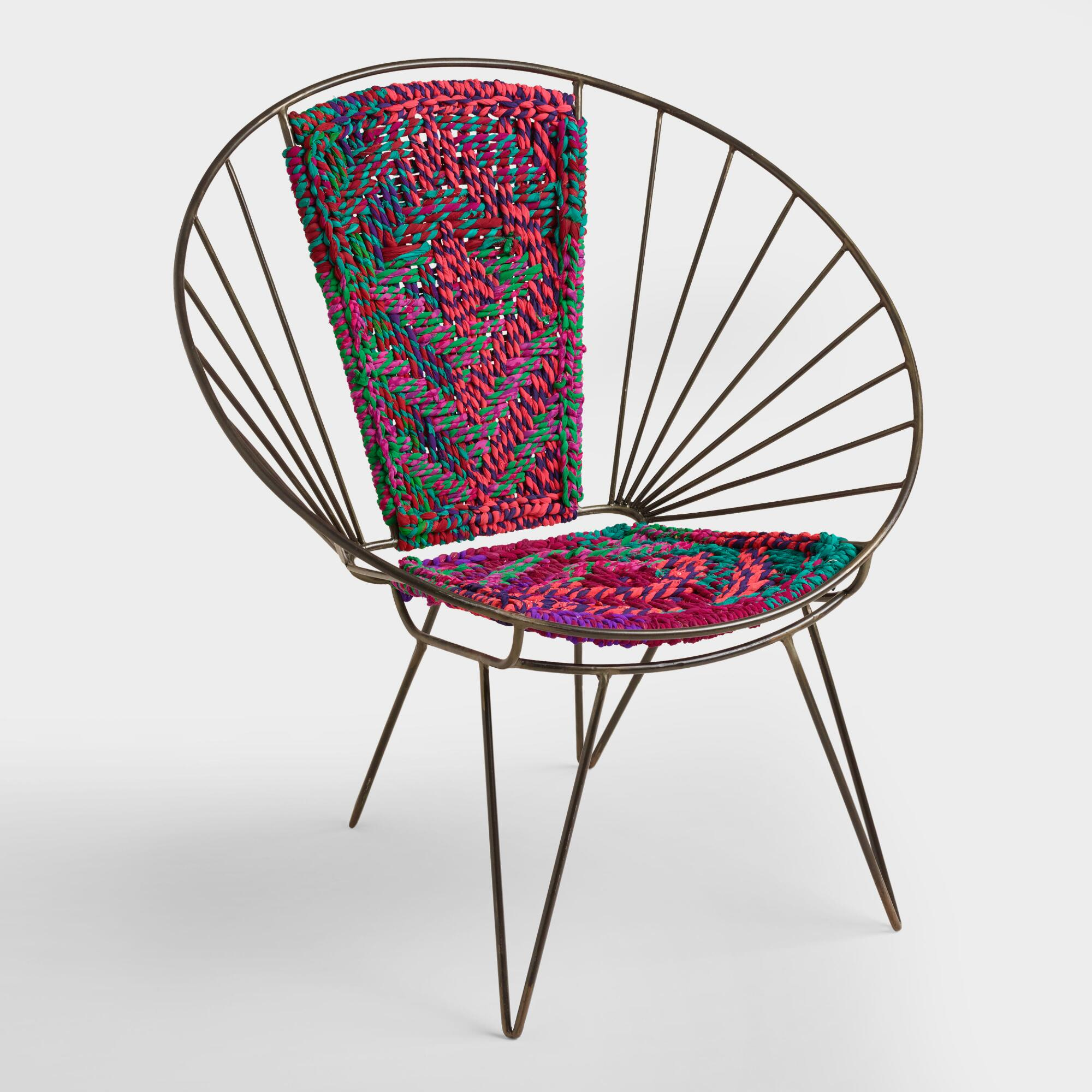 Metal Woven Chindi Chair. Home Accents and Interior Decorating Ideas   World Market