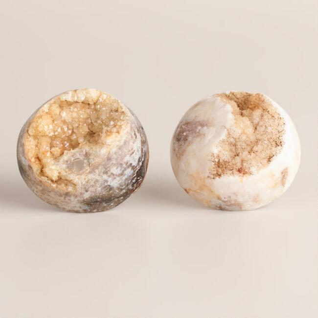 Kitchen Cabinet Upgrade New Knobs Coming Later: Round Druzy Stone Knobs, Set Of 2