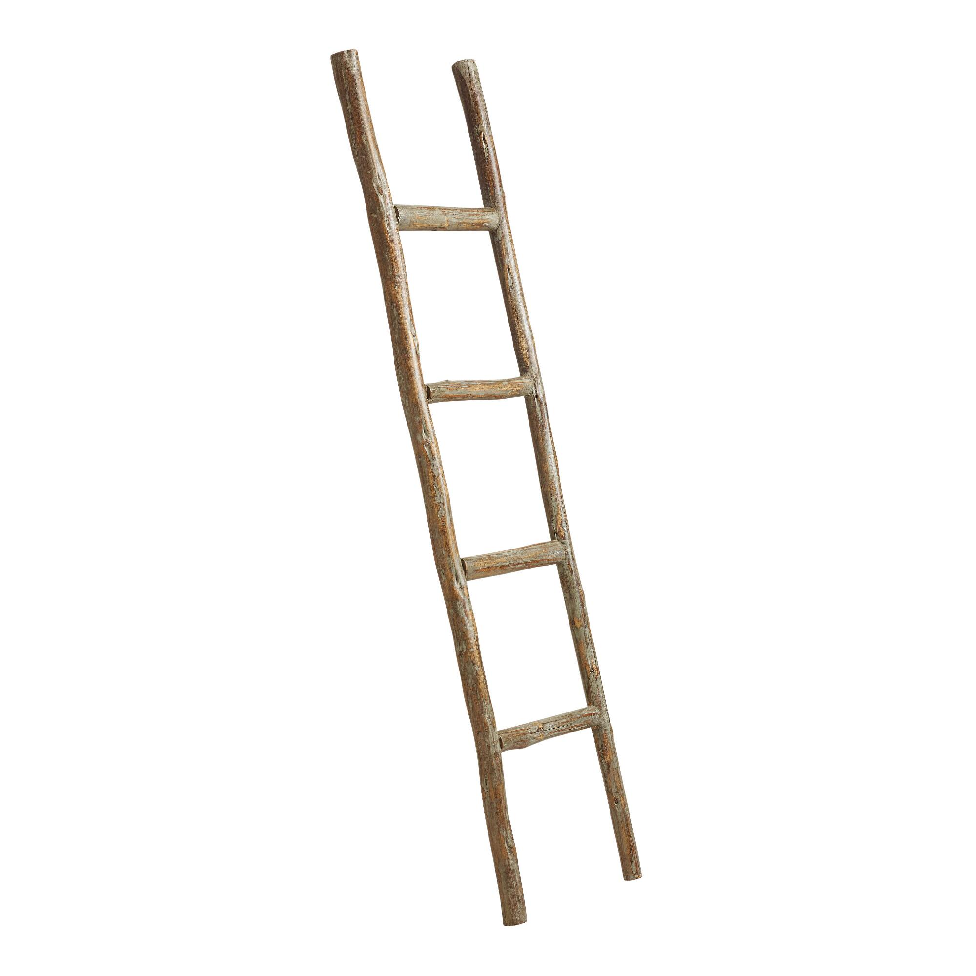 Wood Ladder Decor. Home Accents and Interior Decorating Ideas   World Market