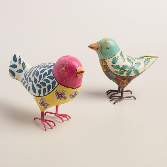 Painted Bird Decor