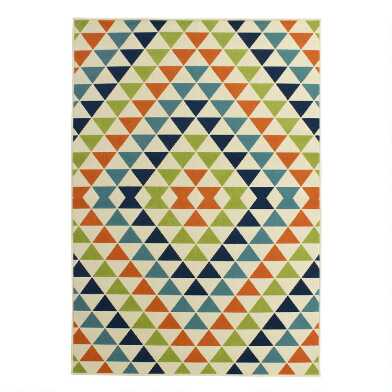 Diamonds Low-Profile Indoor Outdoor Area Rug