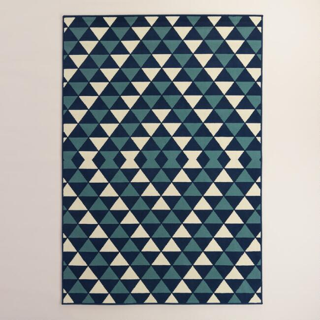 Blue Sapphire Low-Profile Indoor Outdoor Area Rug