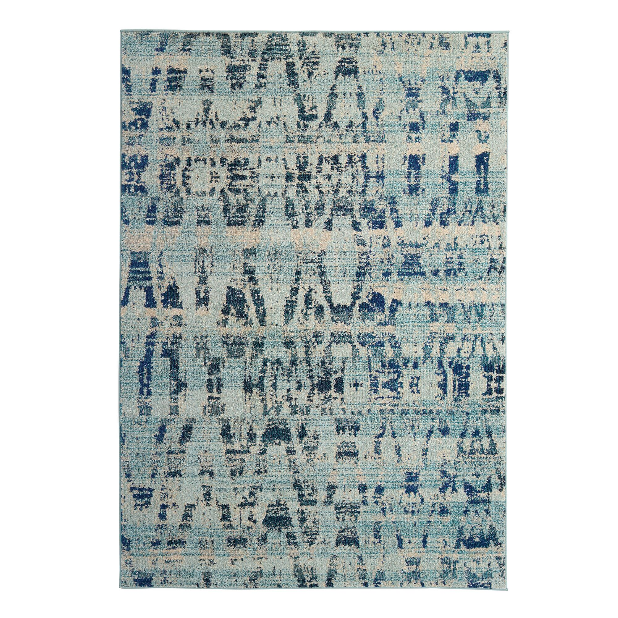 area blue brushstrokes rugs kaleen rug