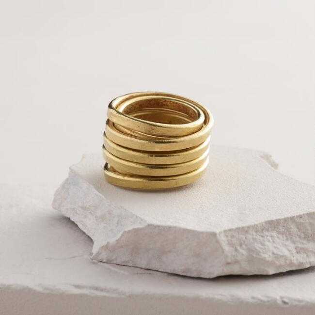 Gold Birds' Nest Ring