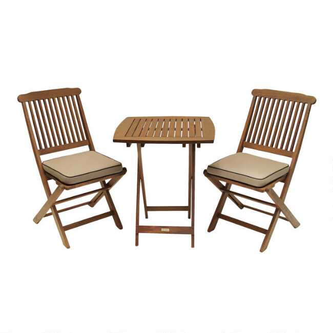 Swell Cavallo 3 Piece Bistro Set With Natural Cushions Interior Design Ideas Tzicisoteloinfo