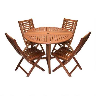Eucalyptus Wood Danner Folding Outdoor Dining Collection