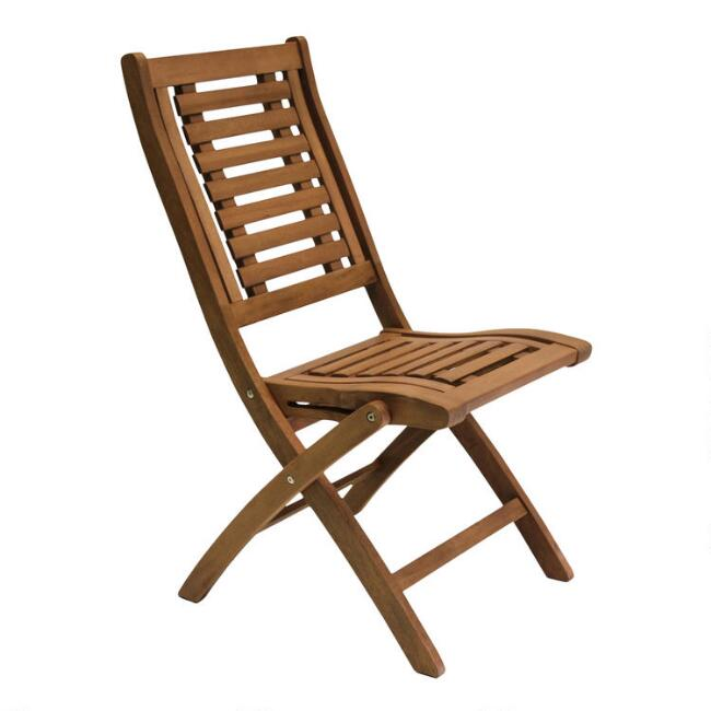 Wood Danner Folding Side Chairs, Set of 2