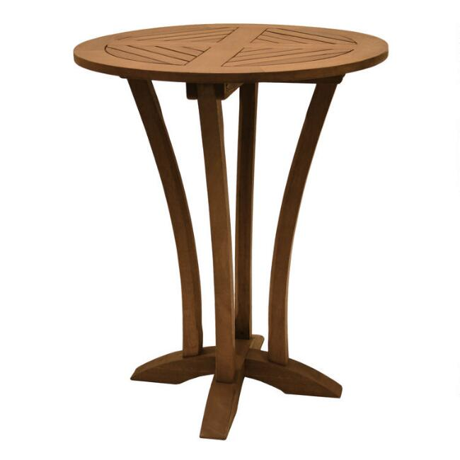 Round Wood Oreton Outdoor Bar Table