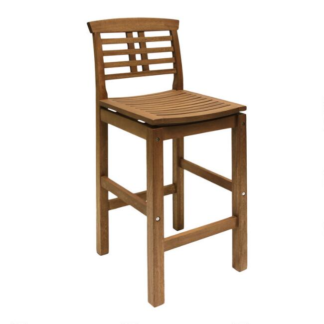 Wood Oreton Outdoor Barstool