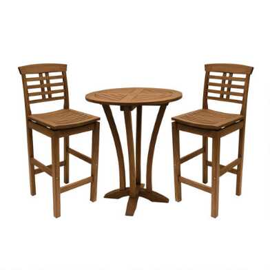 Round Wood Oreton Outdoor Bar Collection
