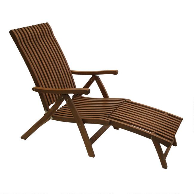 Eucalyptus Wood Catania Outdoor Steamer Lounger