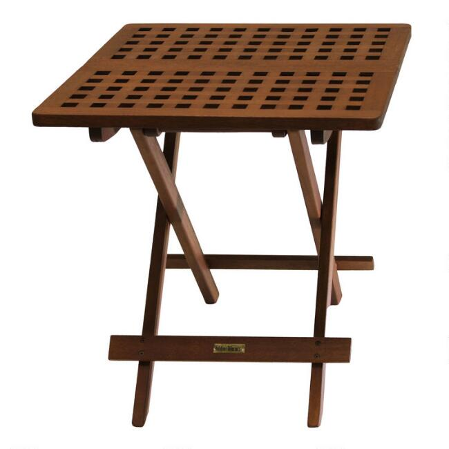 Wood Catania Folding Side Table