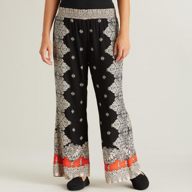 Black and Red Madison Pants