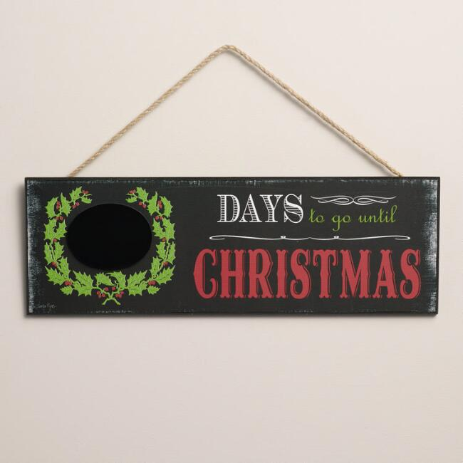 Chalkboard Christmas Countdown Sign