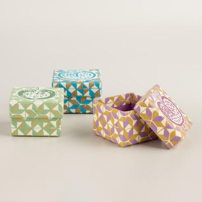 Origami Jewelry Boxes, Set of 3