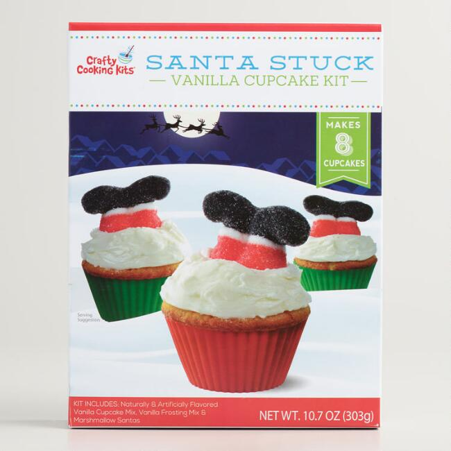 Upside Down Santa Cupcake Kit
