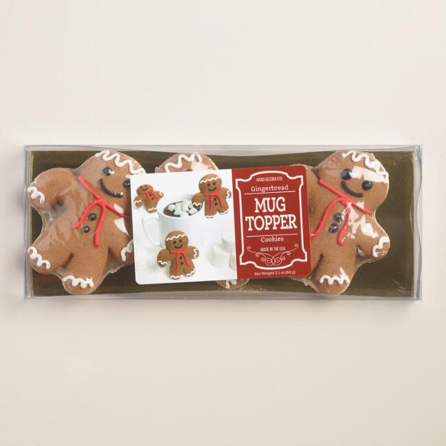 Gingerbread Man Cocoa Topper, 3-Pack