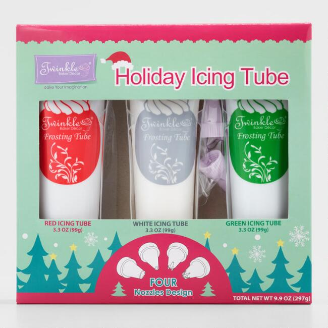 Red, Green and White Twinkles Frosting, 3-Pack