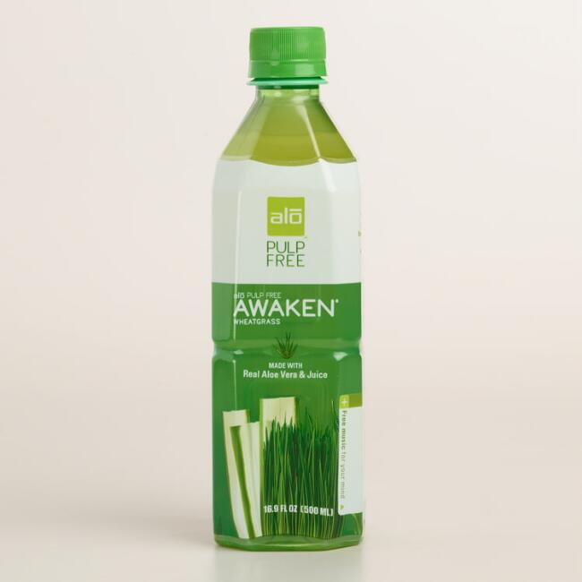 Alo Awaken Wheatgrass No-Pulp Aloe Drink
