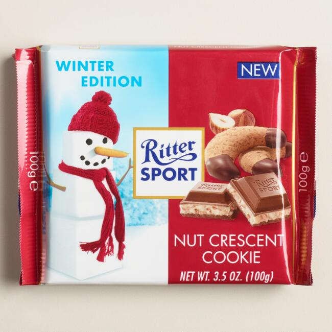 Ritter Nut Crescent Cookie Chocolate Bar