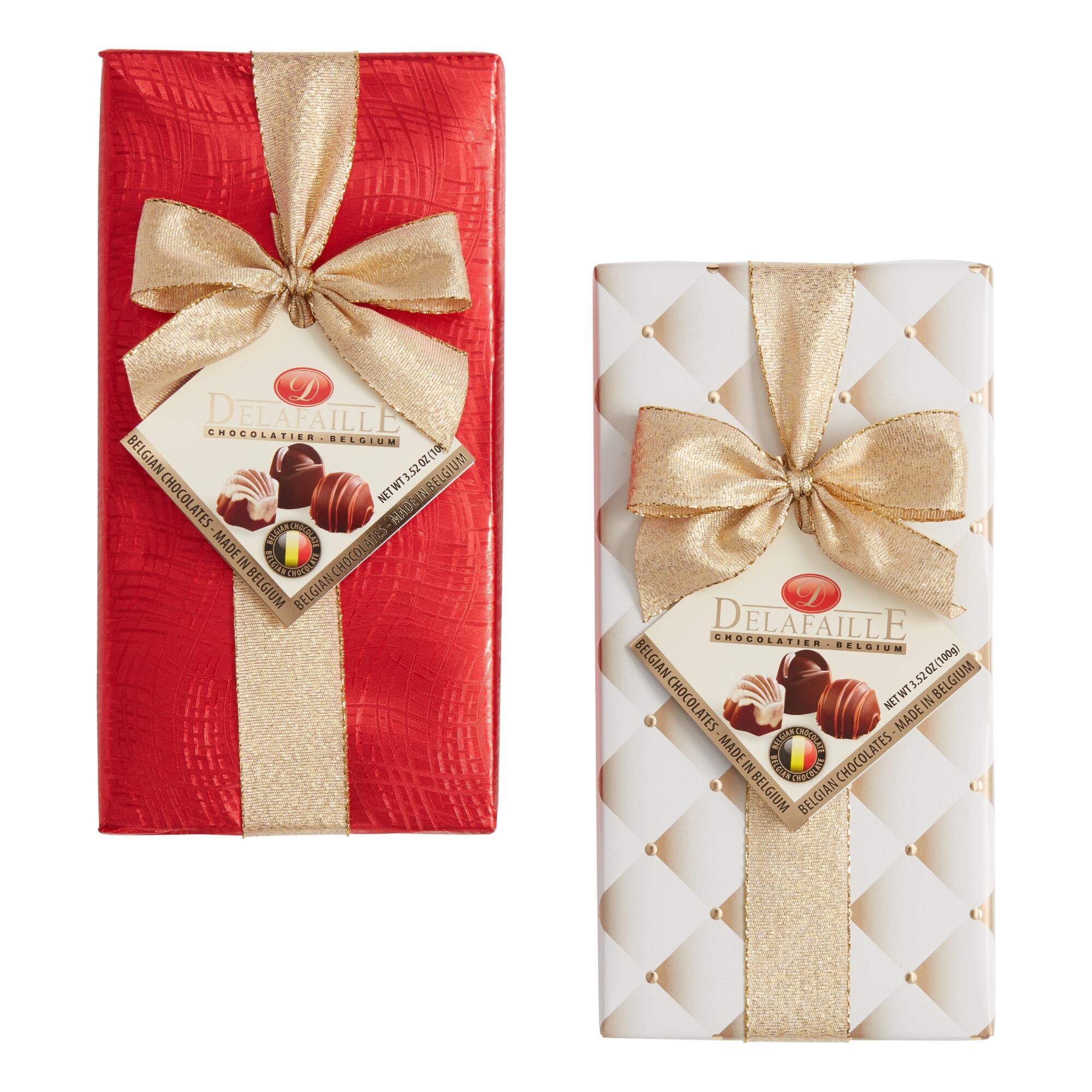 Delafaille Wrapped Chocolate Box Set of 2 | World Market