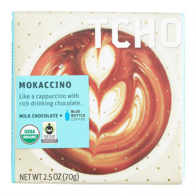 TCHO Mokaccino Milk Chocolate Bar Set of 2