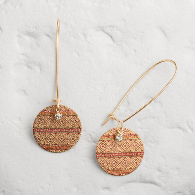 Tribal Shimmer Drop Earrings