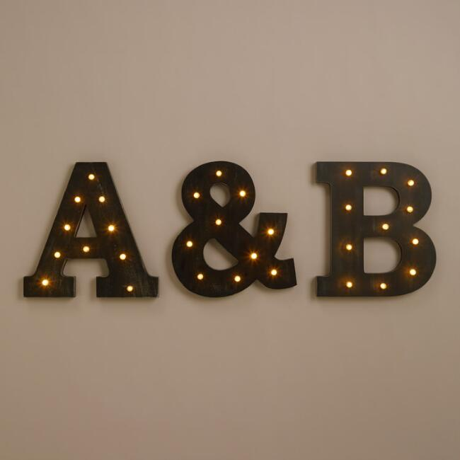 Letter LED Battery Operated Marquee Light Collection