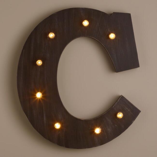 Letter C LED Battery Operated Marquee Light