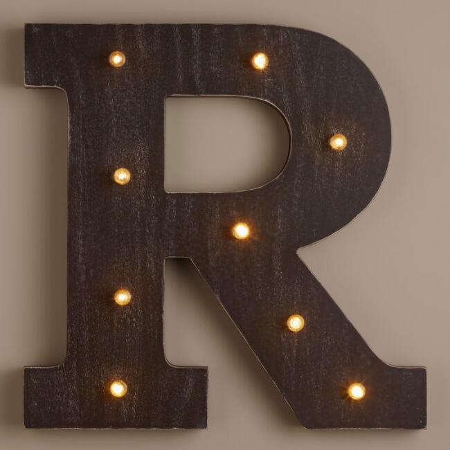 Letter R LED Battery Operated Marquee Light
