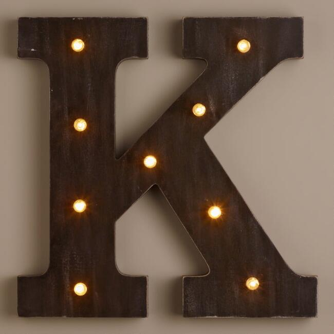 Letter K LED Battery Operated Marquee Light