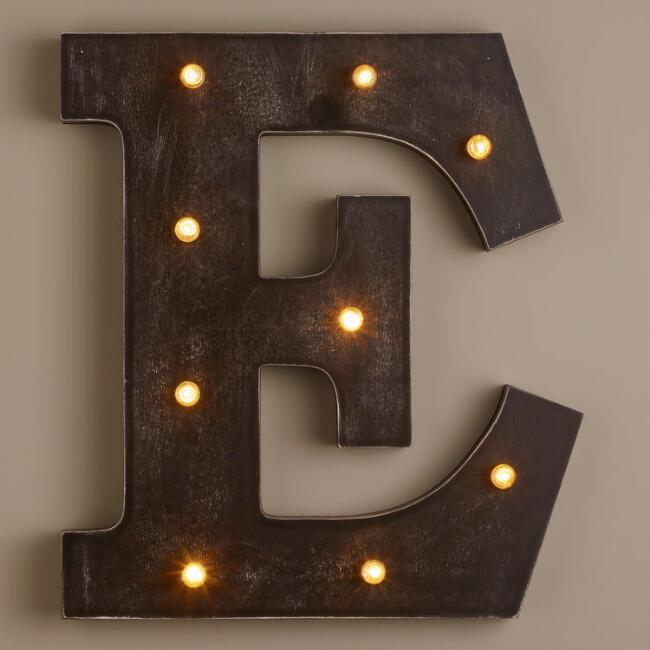 Letter E LED Battery Operated Marquee Light