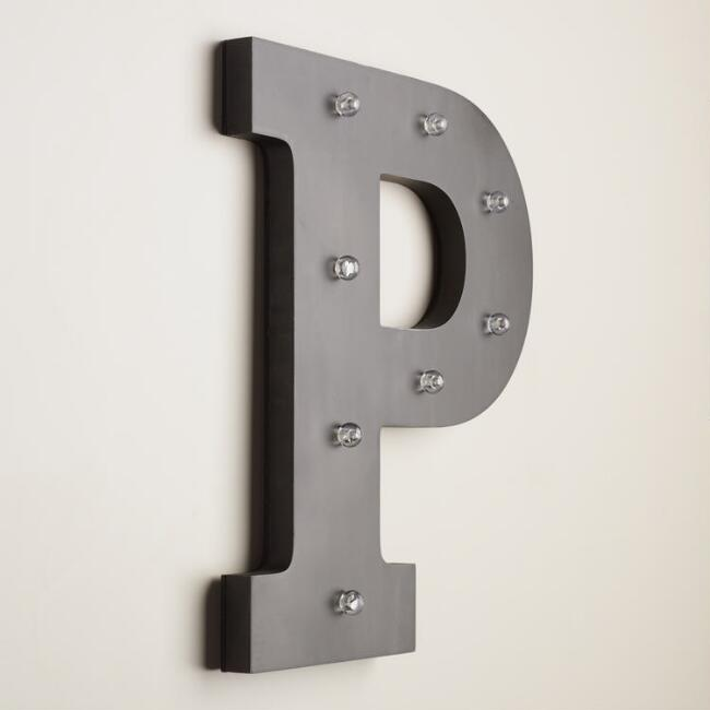 Letter P LED Battery Operated Marquee Light