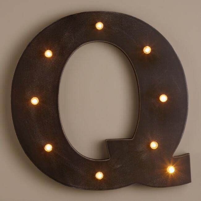 Letter Q LED Battery Operated Marquee Light