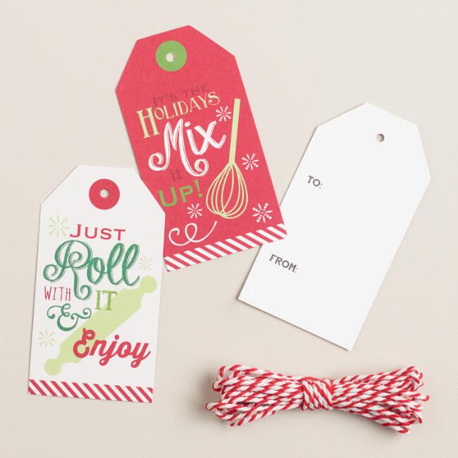 Holiday Baking Gift Tags, 12-Count
