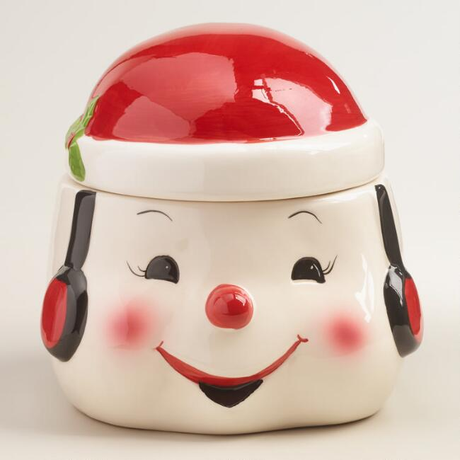 Ceramic Snowman Cookie Jar