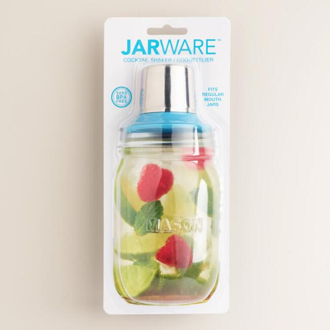Jarware Regular-Mouth Mason Jar Cocktail Shaker