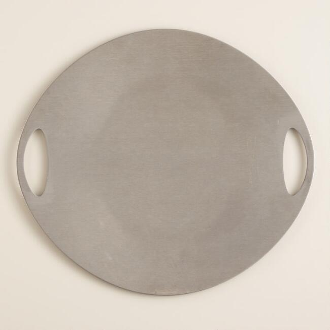 Stainless Steel BBQ Grill and Serving Plate