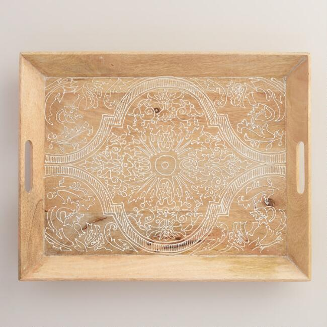 Rectangular Wood Valeria Tray