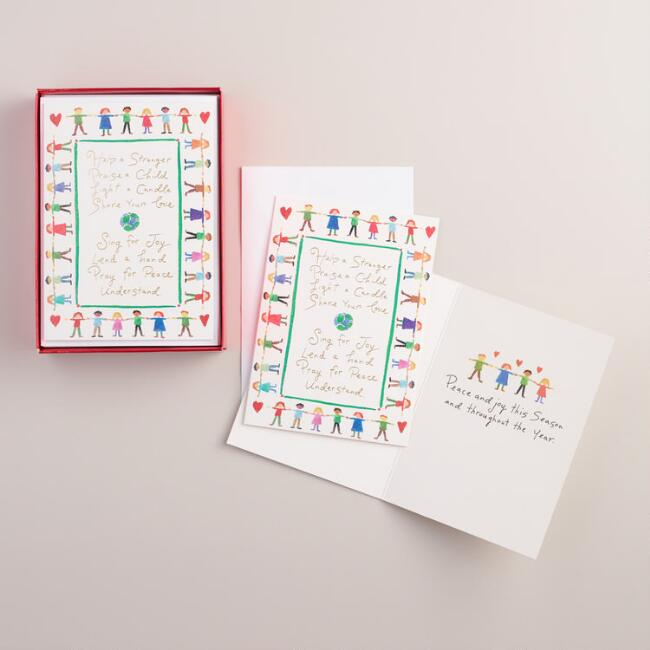 Help a Stranger Boxed Holiday Cards,  Set of 15