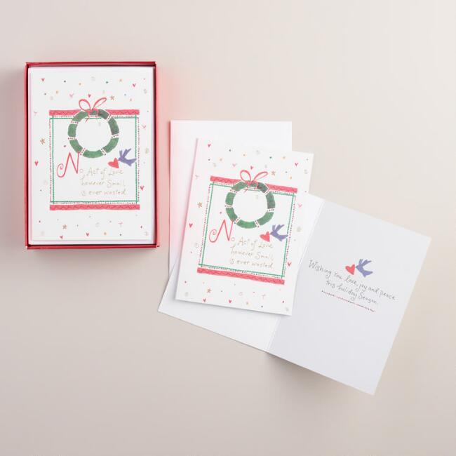 No Act of Love Boxed Holiday Cards,  Set of 15