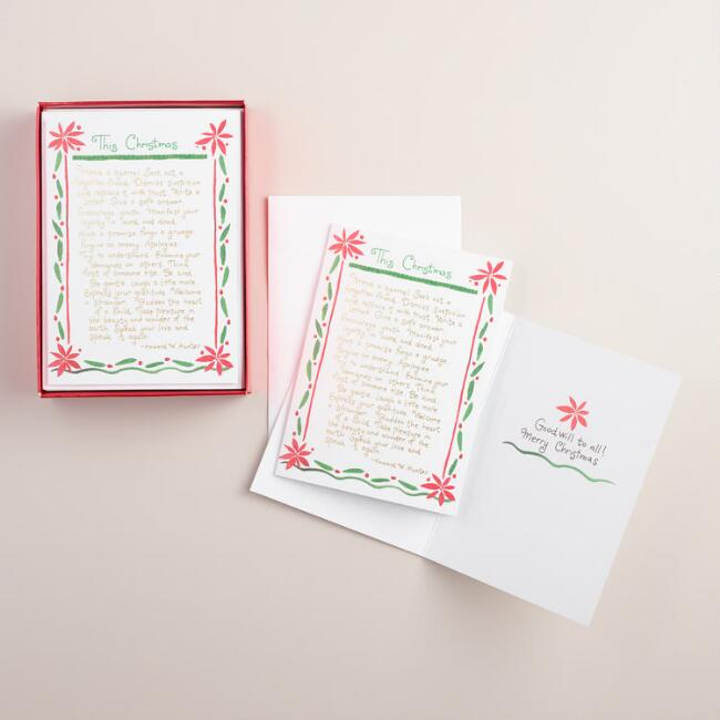 Mend a Quarrel Boxed Holiday Cards,  Set of 15