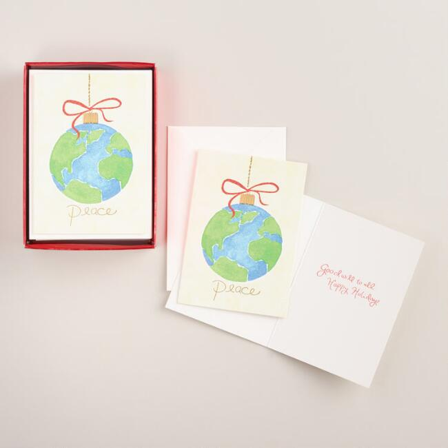 One World Peace Boxed Holiday Cards, Set of 20