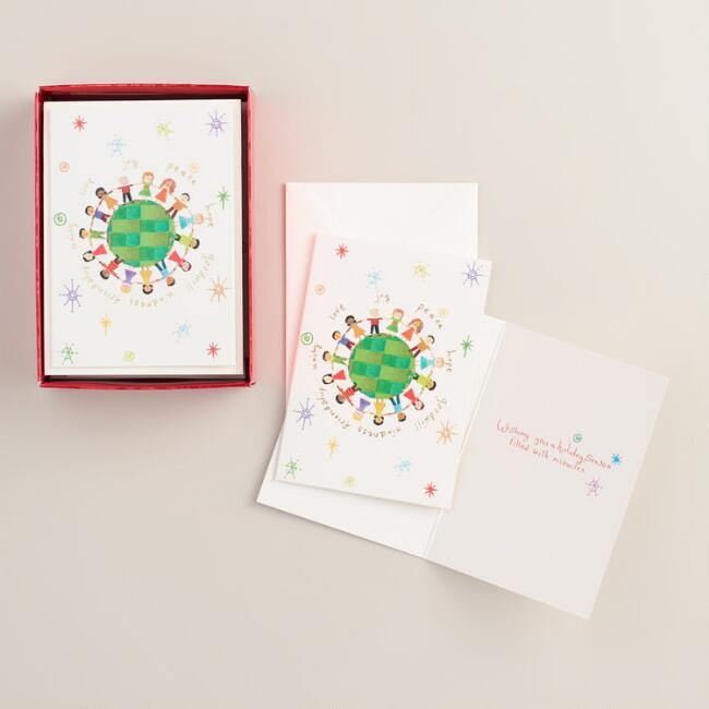 Global Kids Boxed Holiday Cards, Set of 15