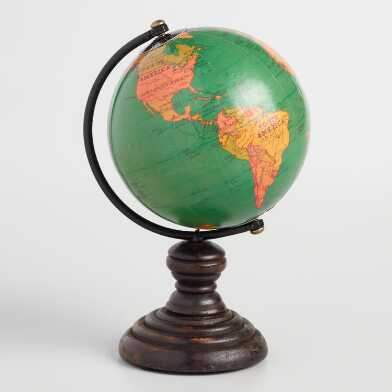Mini Green Globe on Stand