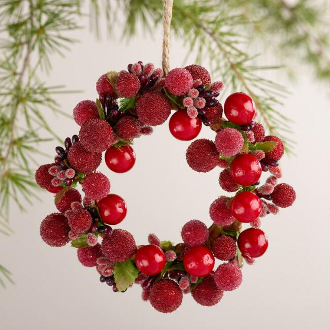 Red Berry Wreath Ornament