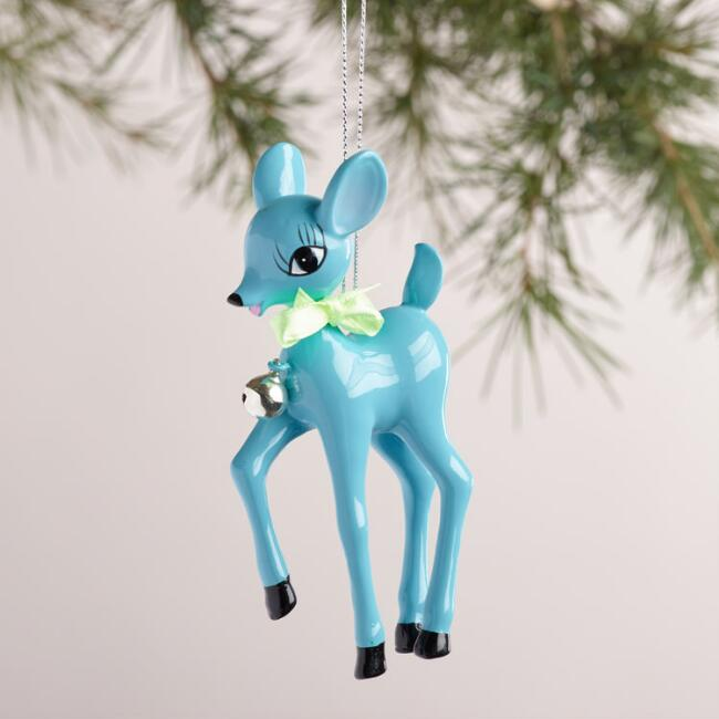Retro Deer Ornaments, Set of 4